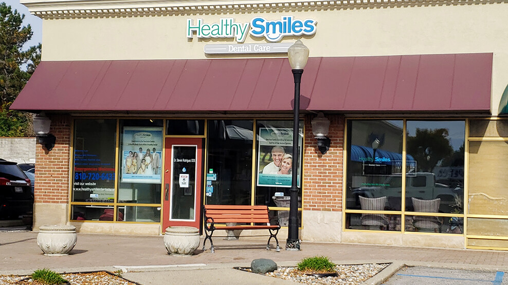 Outside view of Healthy Smiles Dental Care of Flint office building